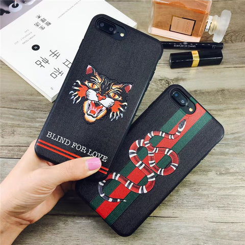 GG Styled Snake/Tiger iPhone Case