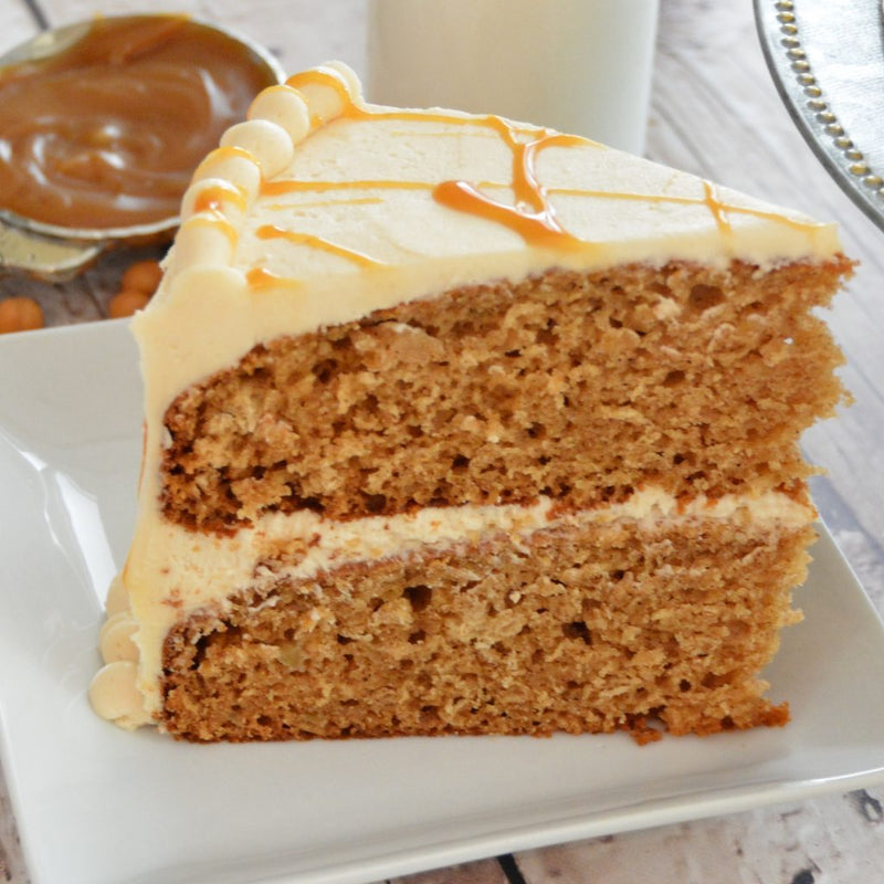 Caramel Apple Cake with Salted Caramel Buttercream