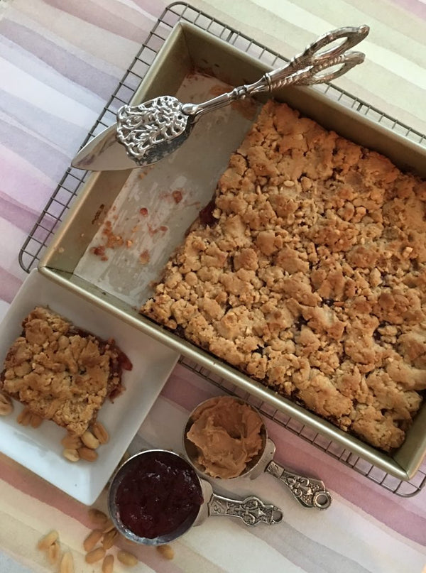 Crunchy Peanut Butter and Jelly Bars