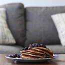pancakes breakfast shrub blueberry