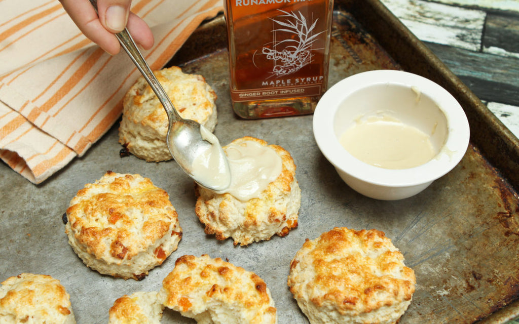 Apricot Scones with Ginger Maple Glaze