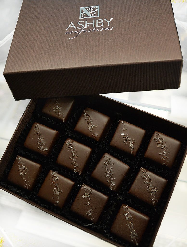 Dark Chocolate Salted Caramels   12-Piece