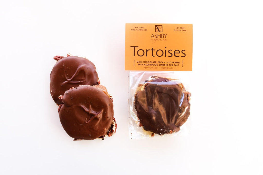 Milk Chocolate Tortoise with Alderwood Smoked Sea Salt