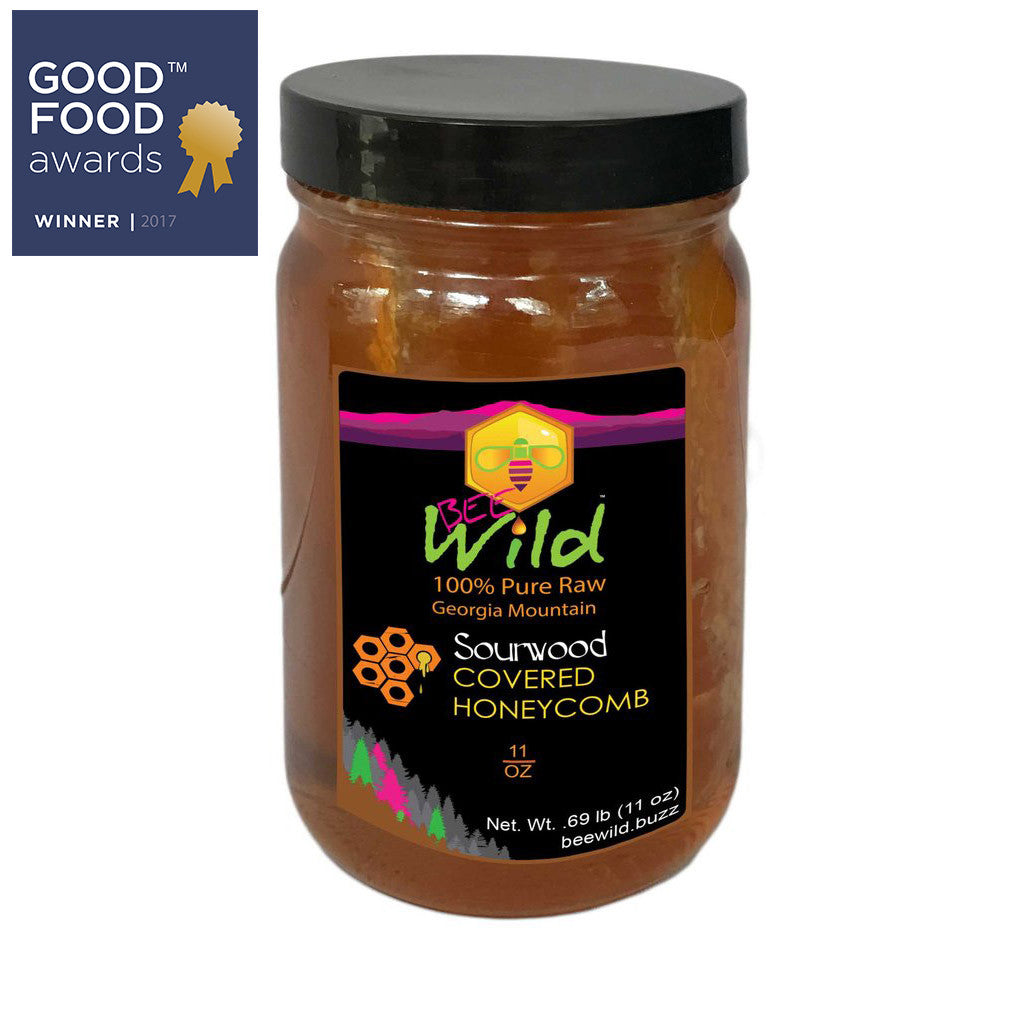Sourwood Covered Honeycomb  11oz