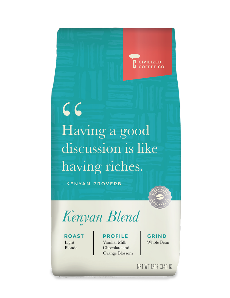 Kenyan Blend, Light Blond Roast, Whole Bean  12oz