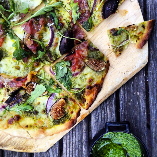 Lemon Mint Pesto Pizza