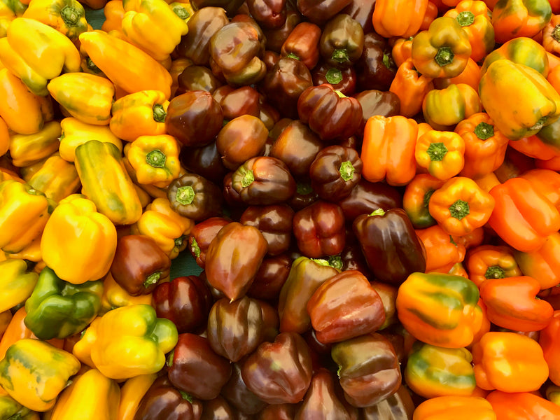 peppers market vegetables