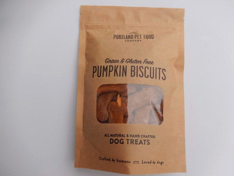 Grain and Gluten free Pumpkin Biscuit Dog Treats  5oz - Foodlyn - 1