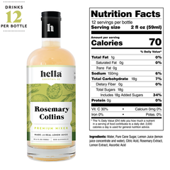 Hella Rosemary Collins Cocktail Mix