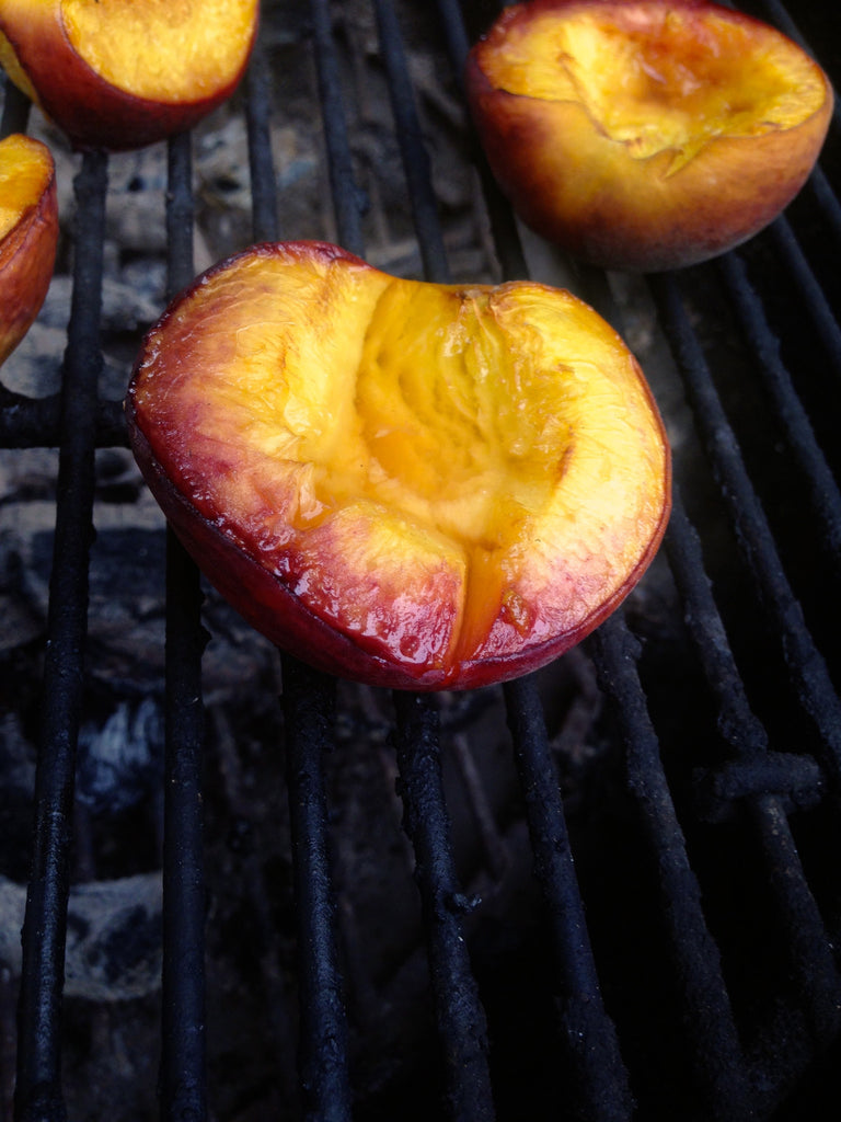 Spicy Grilled Peaches