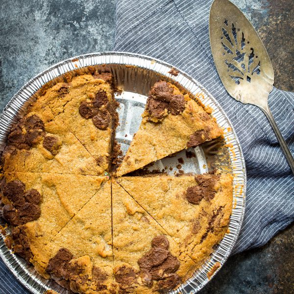 Chocolate Peanut Butter Cookie Pie