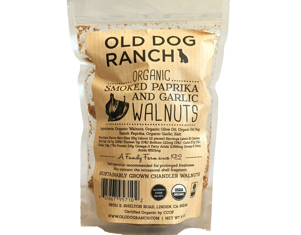 Organic Smoked Paprika and Garlic Walnuts  6oz - Foodlyn - 1