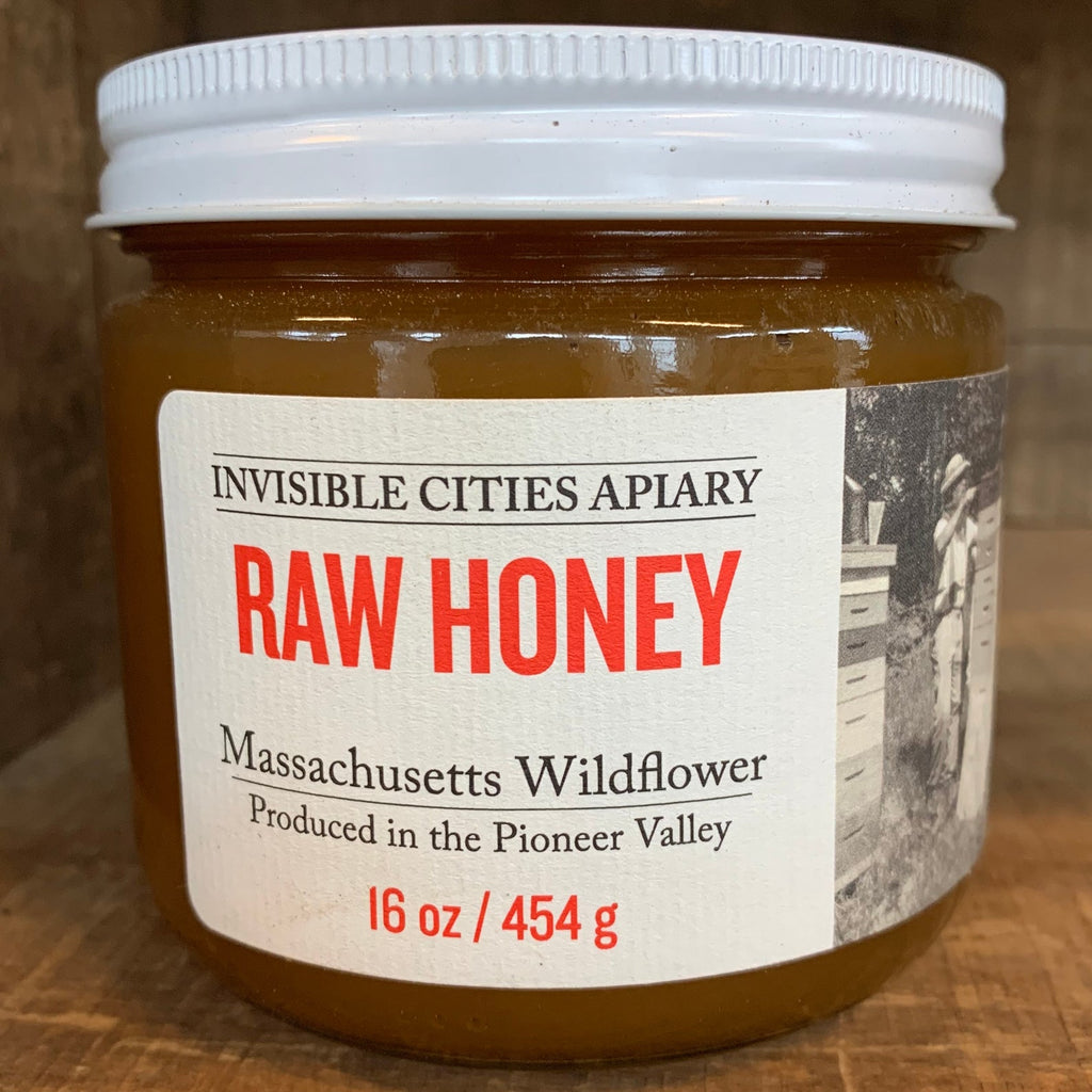 Invisible Cities Apiary Raw Honey - Massachusetts Wildflower    16oz