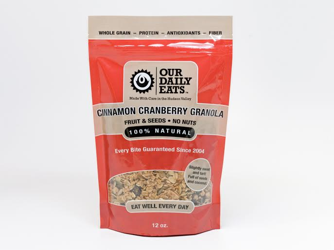 granola cinnamon cranberry fruit seeds