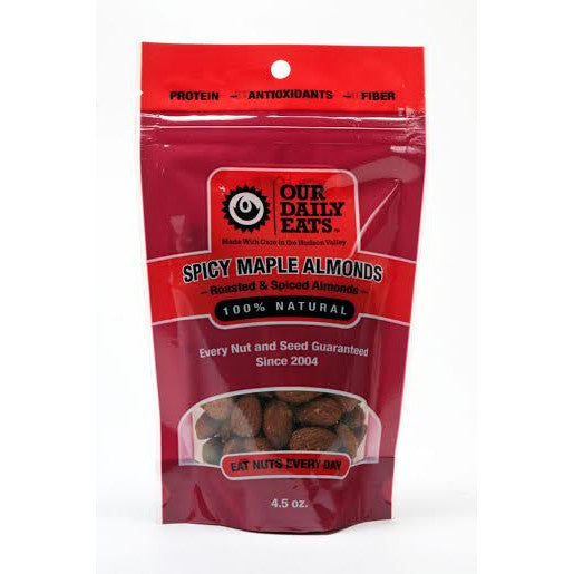 Spicy Maple Almonds  4.5oz - Foodlyn