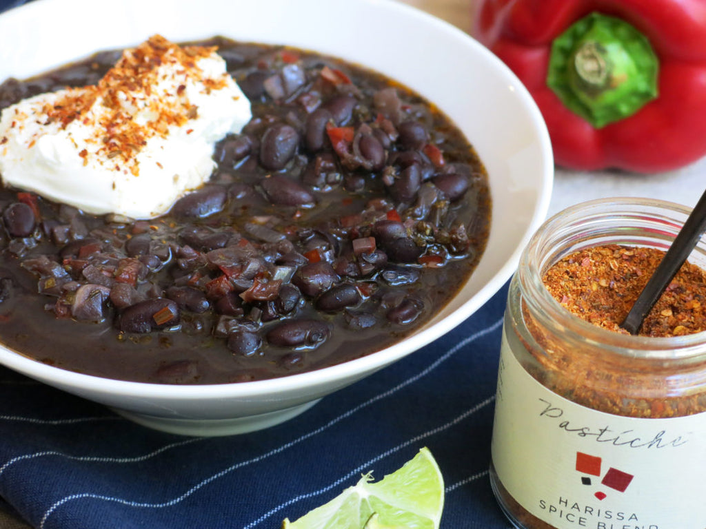Black Bean Soup with Harissa Spice Blend