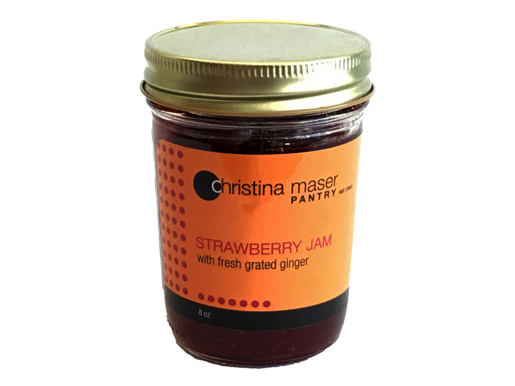 strawberry jam ginger jar breakfast