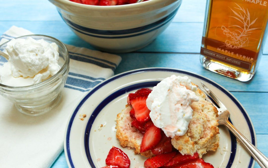 Strawberry Shortcake with Ginger Infused Maple
