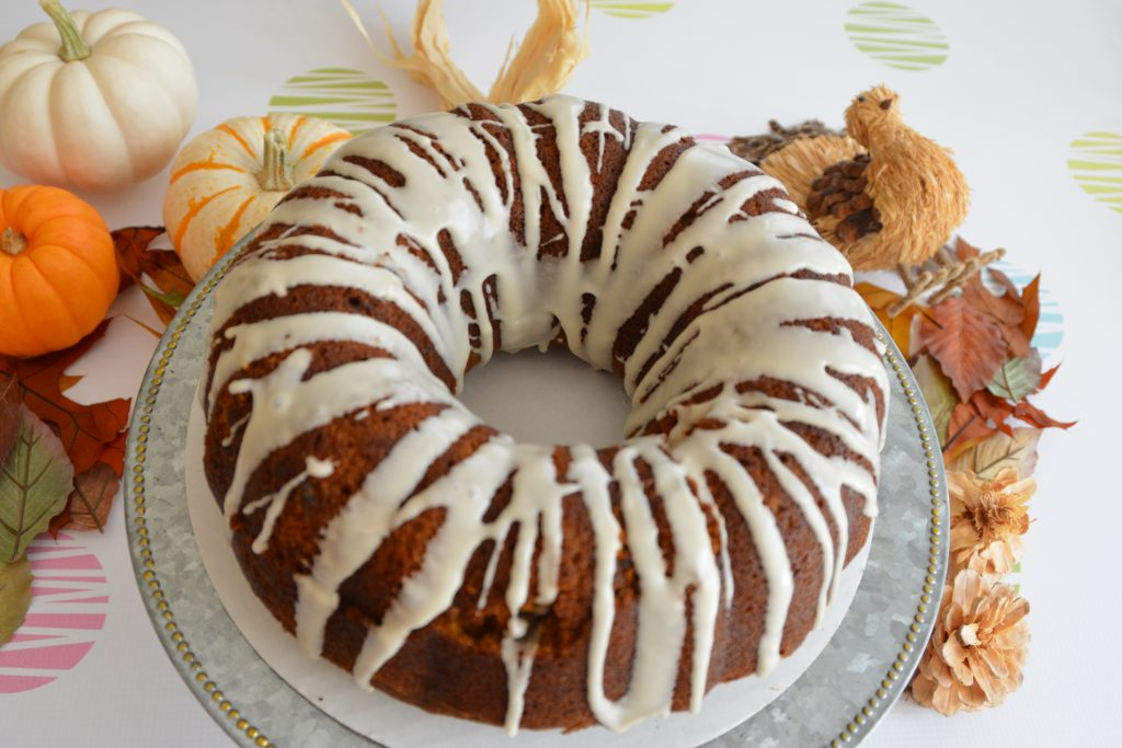 Pumpkin Pound Cake with Maple Cream Glaze