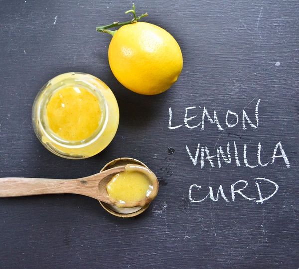 Vanilla Bean Infused Meyer Lemon Curd  8oz