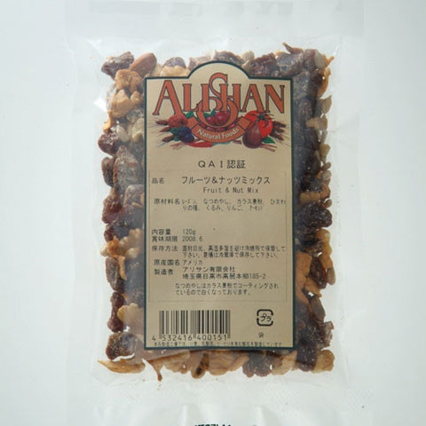 Alishan Organic Fruit & Nut Mix 120g