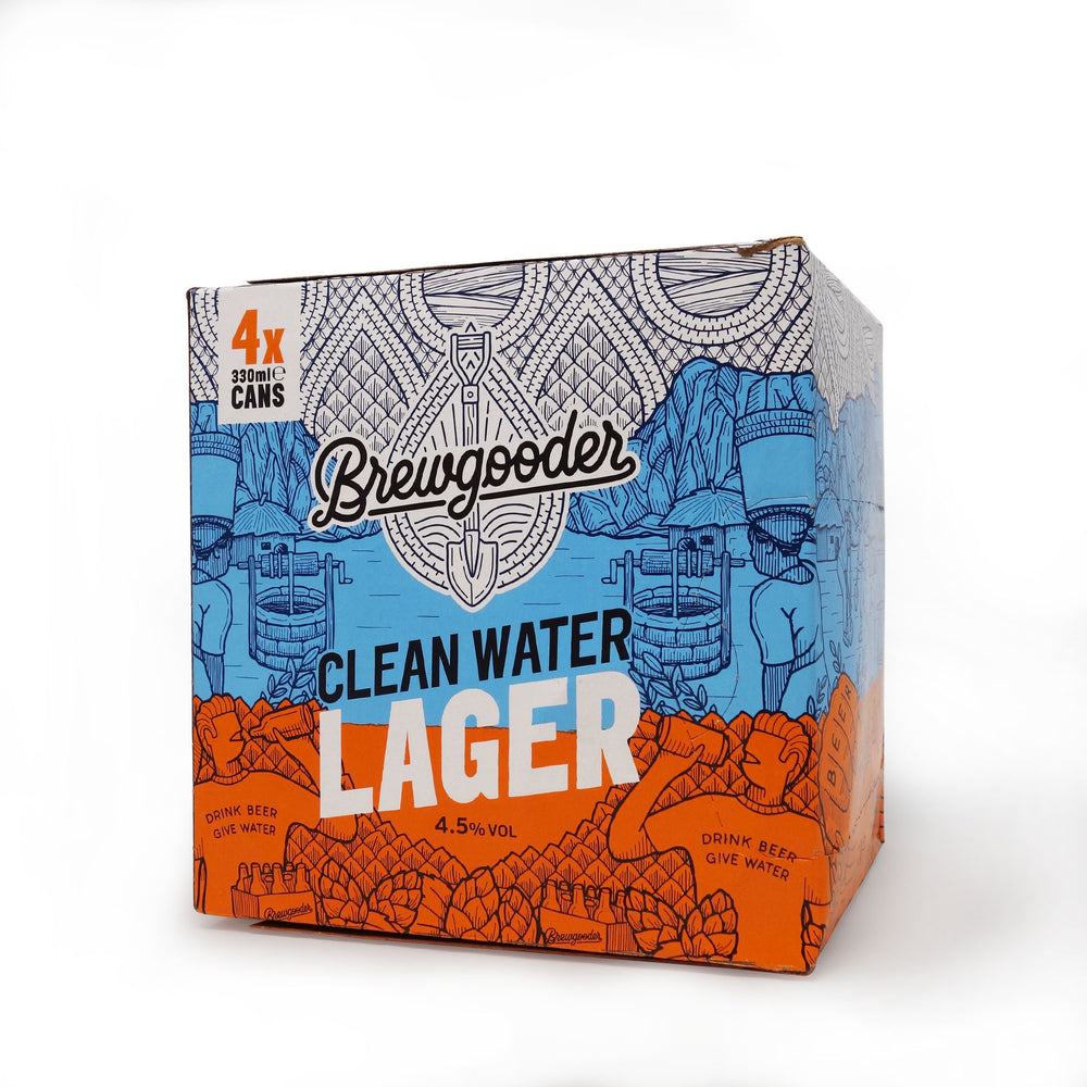 Brewgooder - Clean Water Lager 4x330ml Can