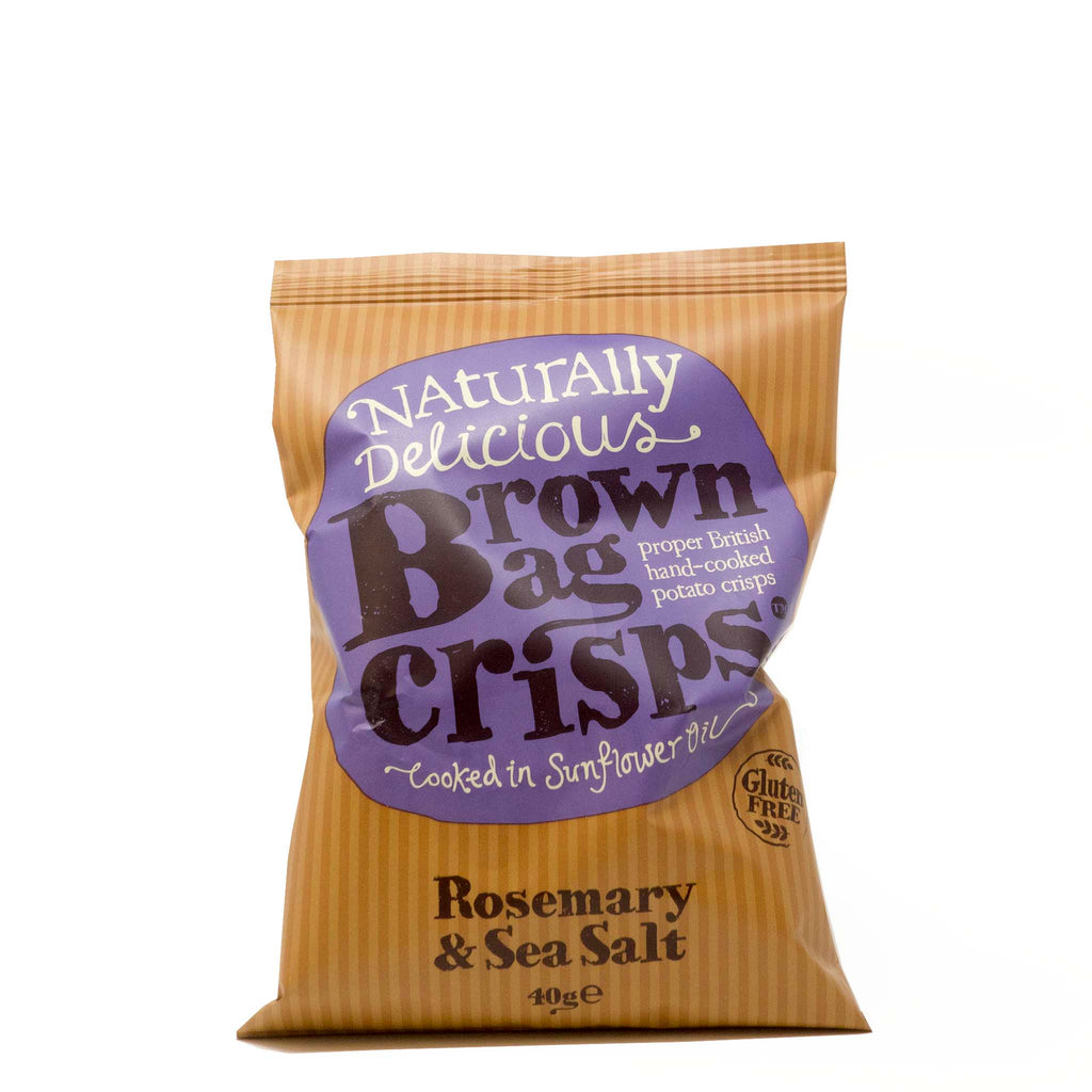Brown Bag Crisps - Rosemary & Sea Salt 40g