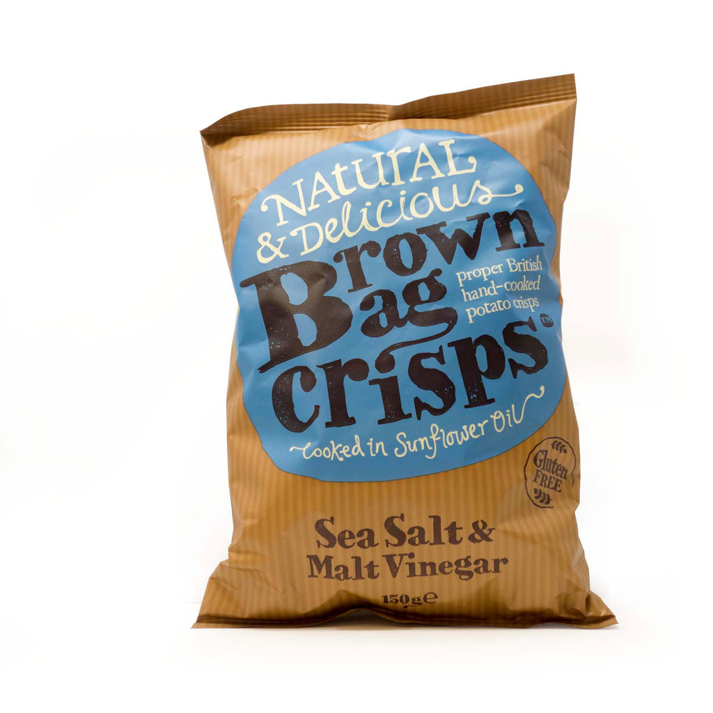 Brown Bag Crisps - Sea Salt & Malt Vinegar 150g