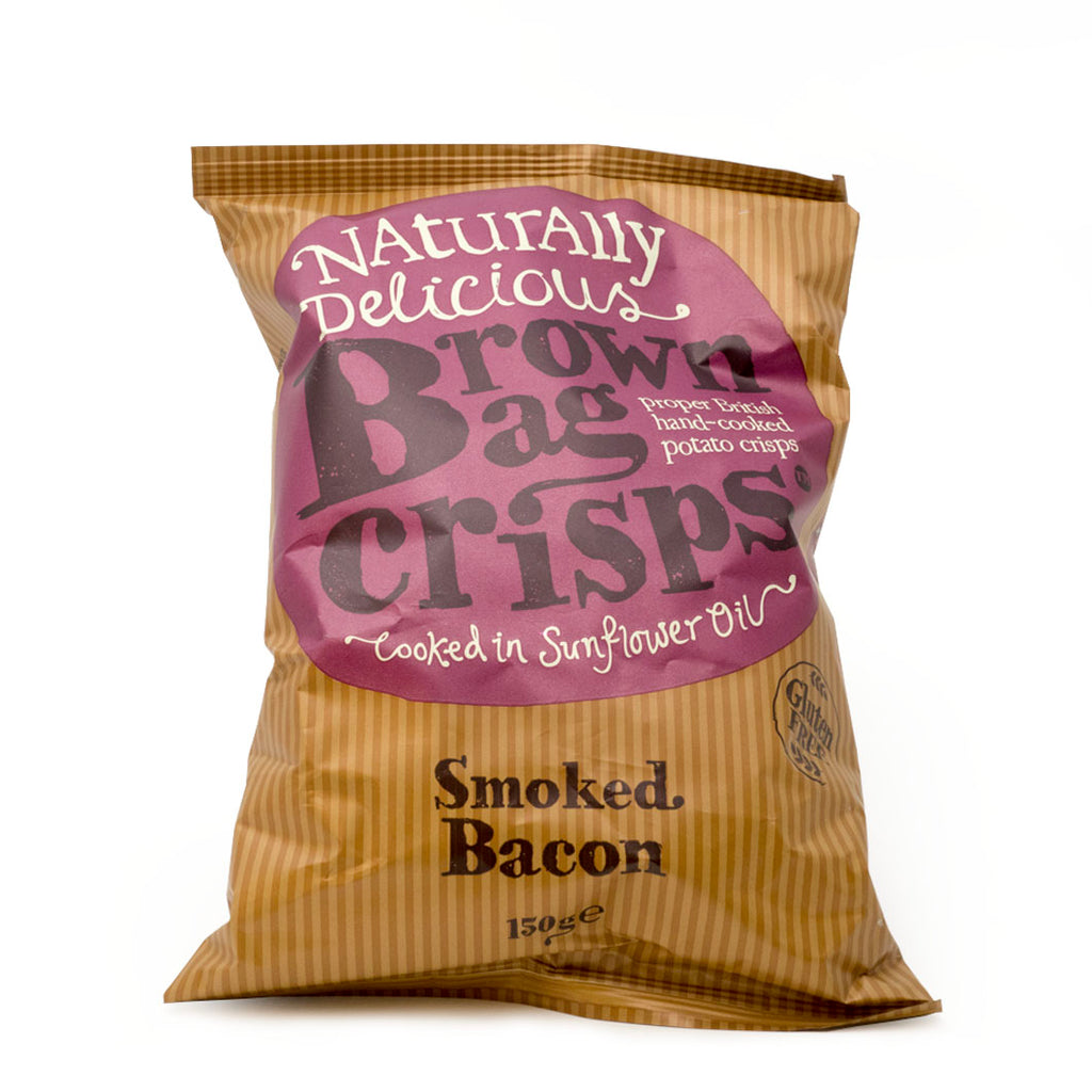Brown Bag Crisps - Smoked Bacon 150g