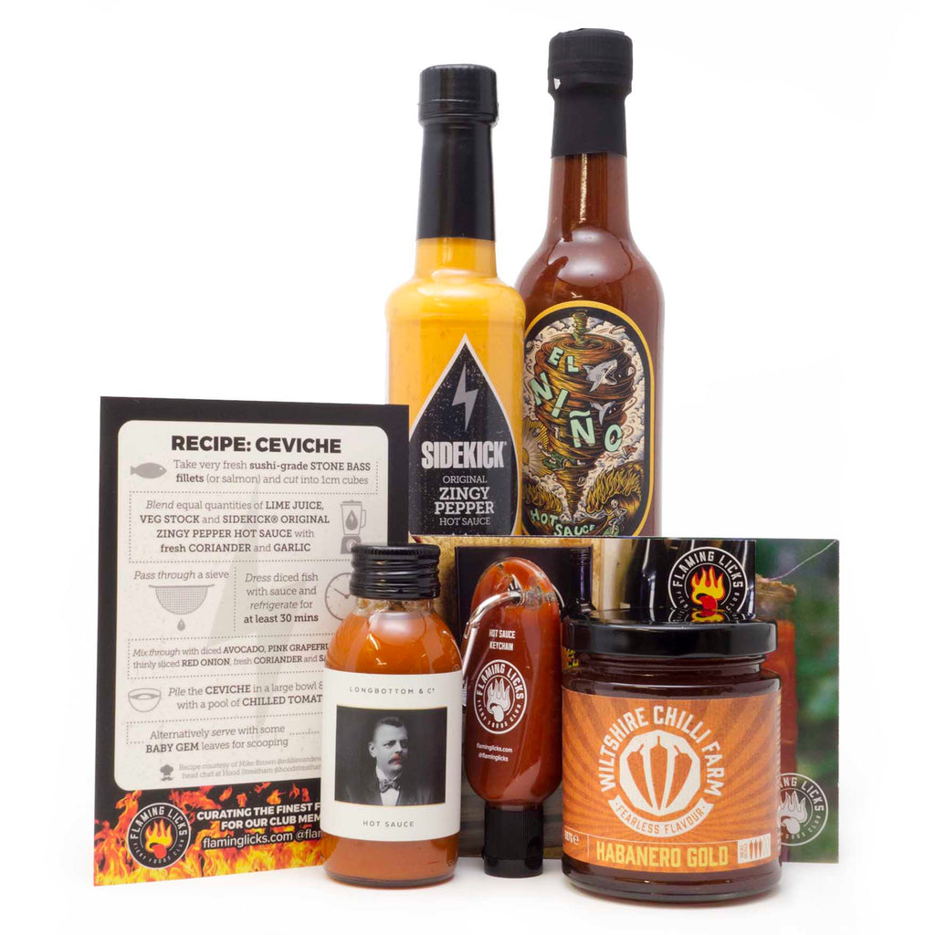 Flaming Licks - Mixed Hot Sauce Gift Set