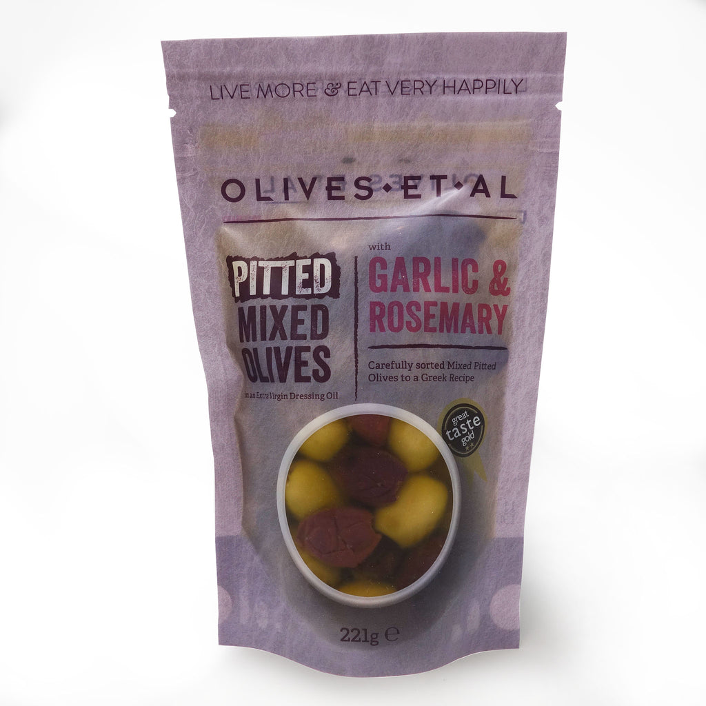 Olives Et Al - Sunshine Rosemary & Garlic Pitted Olives Pouch