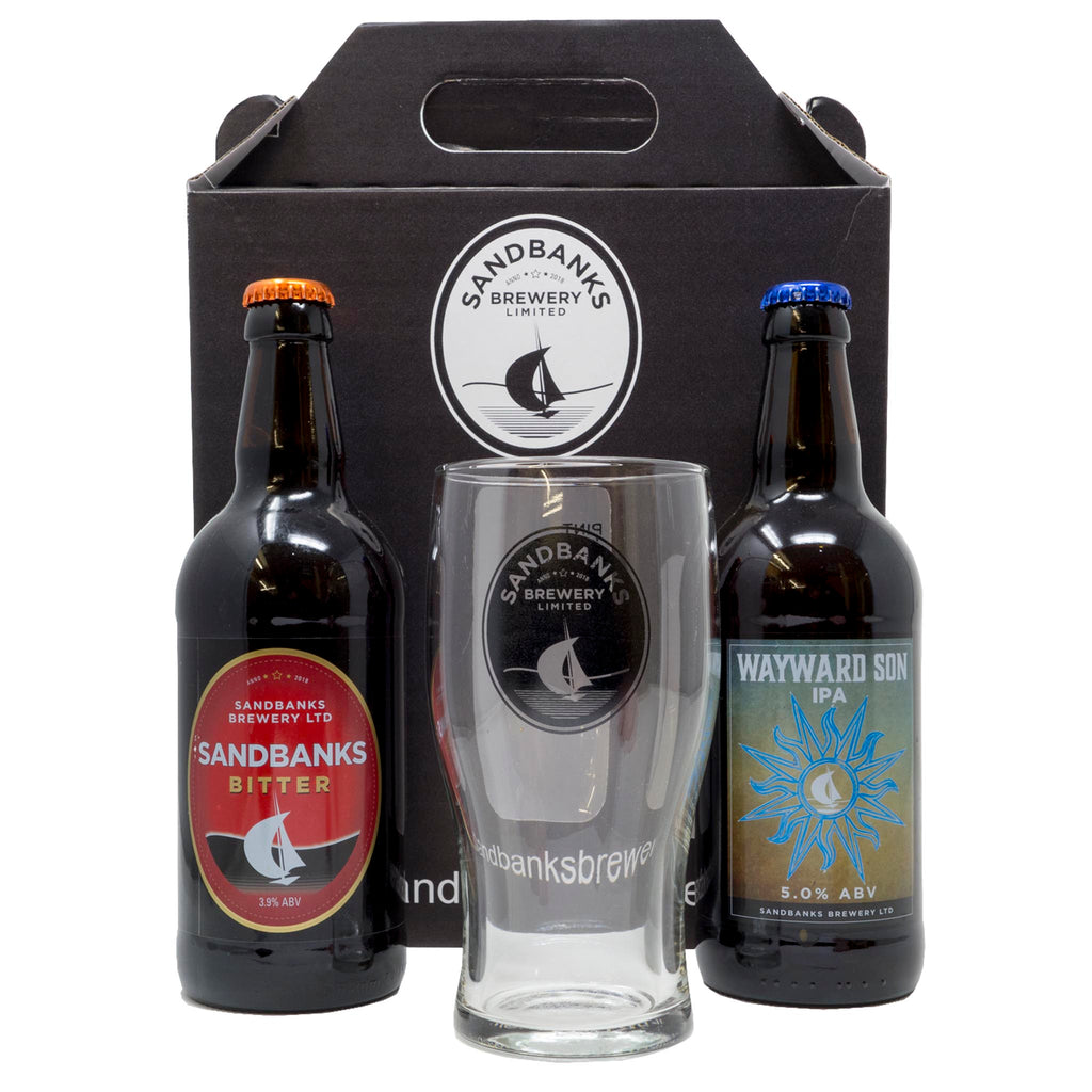 Sandbanks Brewery - Wayward IPA & Sandbanks Bitter Gift Pack With Glass
