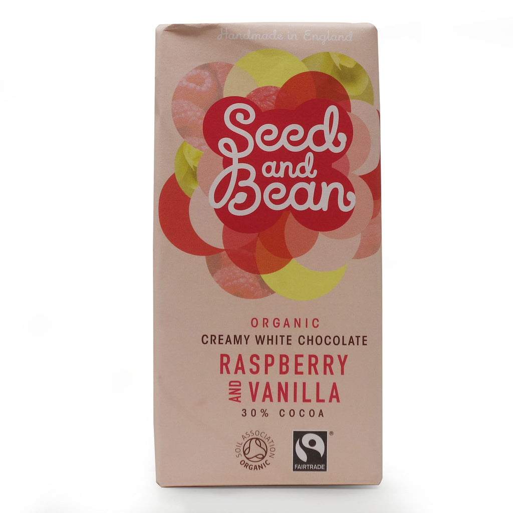 Seed&Bean - White Chocolate with Raspberry & Vanilla 30%
