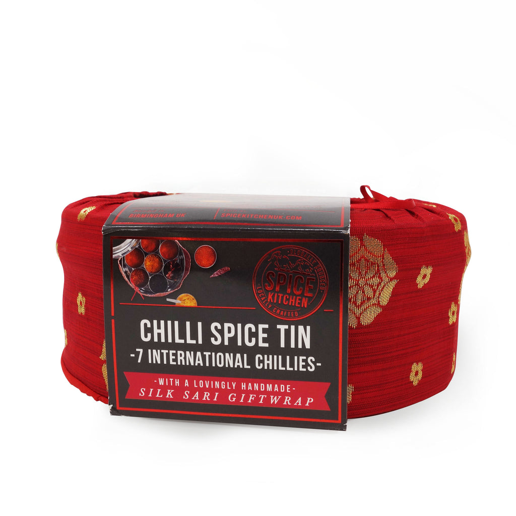 Spice Kitchen - Chilli Spice Tin with Handmade Silk Wrap