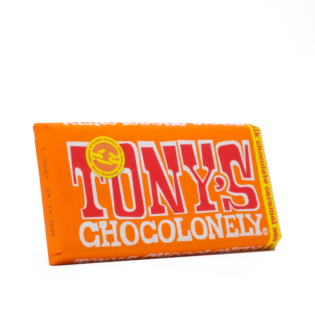 Tony's Chocolonely - Milk Chocolate, Caramel & Sea Salt 180g