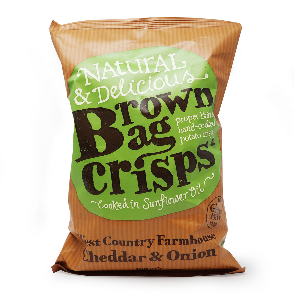 Brown Bag Crisps - Cheddar and Onion 150g