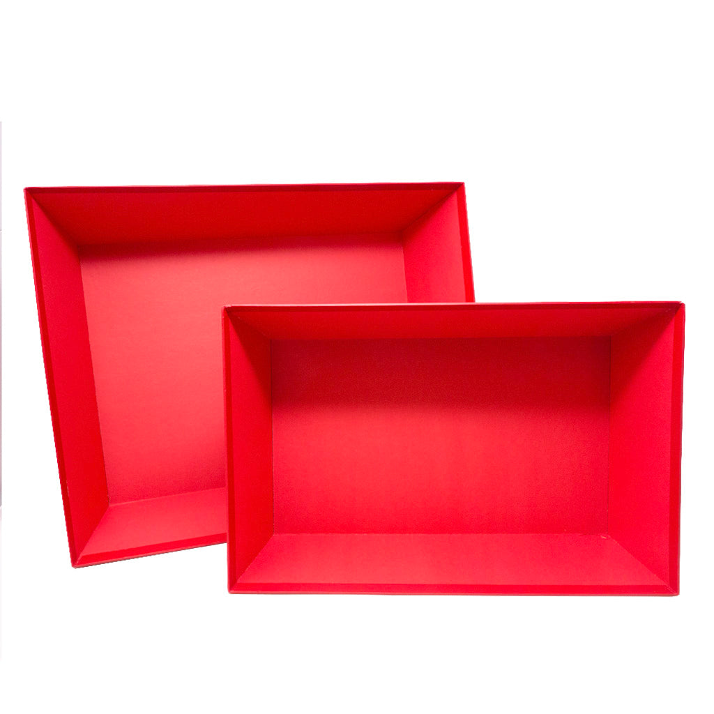 Red Tray Gift Box - Medium