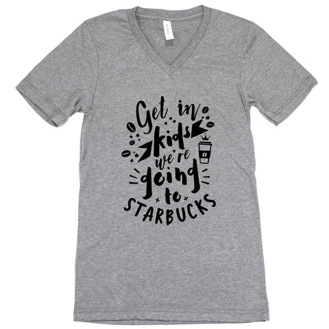 We're Going To Starbucks Unisex Adult Tee