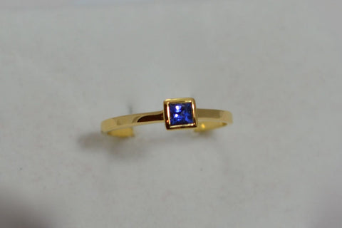 009 Natural Blue Sapphire with 18k Ring