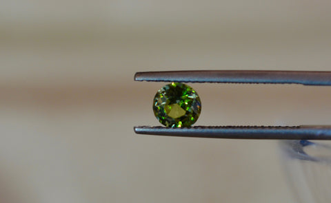 New! Namibia  0.9ct Natural Demantoid garnet