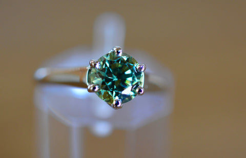 New! 1.25ct Natural Demantoid Garnet Namibia 18k ring