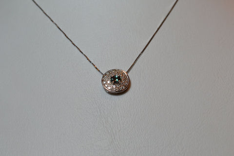 006 18K Natural Alexandrite Necklace