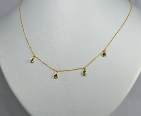 Alexandrite Necklace 18k ring