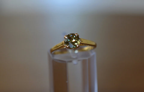 New!0.75ct Natural Demantoid Garnet Namibia 18k ring