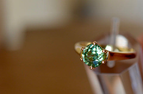 New! 1.45ct Natural Demantoid Garnet Namibia 18k ring