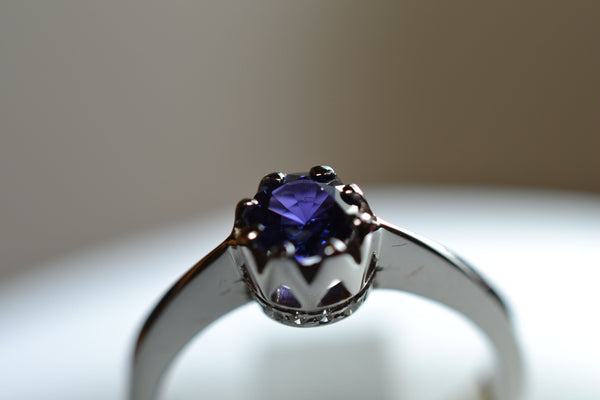 sold 18k blue s solitaire
