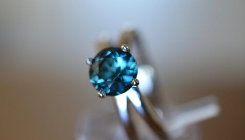 New! 1.25ct Natural Blue Tourmaline Namibia 18k ring