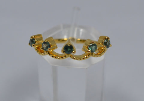003 Crown Design Natural Alexandrite Ring 18k
