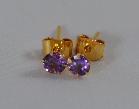 21k Natural Purple Sapphire Earrings