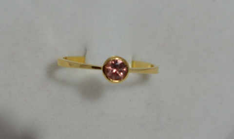 Natural Padparadscha Color Sapphire with 18k Ring